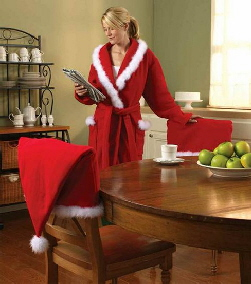 Make A Santa Hat Chair Cover And Robe