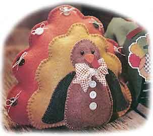 Grand Gobbler turkey made with felt
